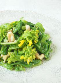 菜の花とクルミのサラダ