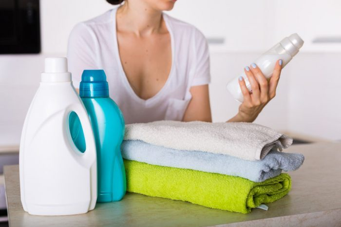79585690 - freshly washed laundry with detegrent and fabric softner